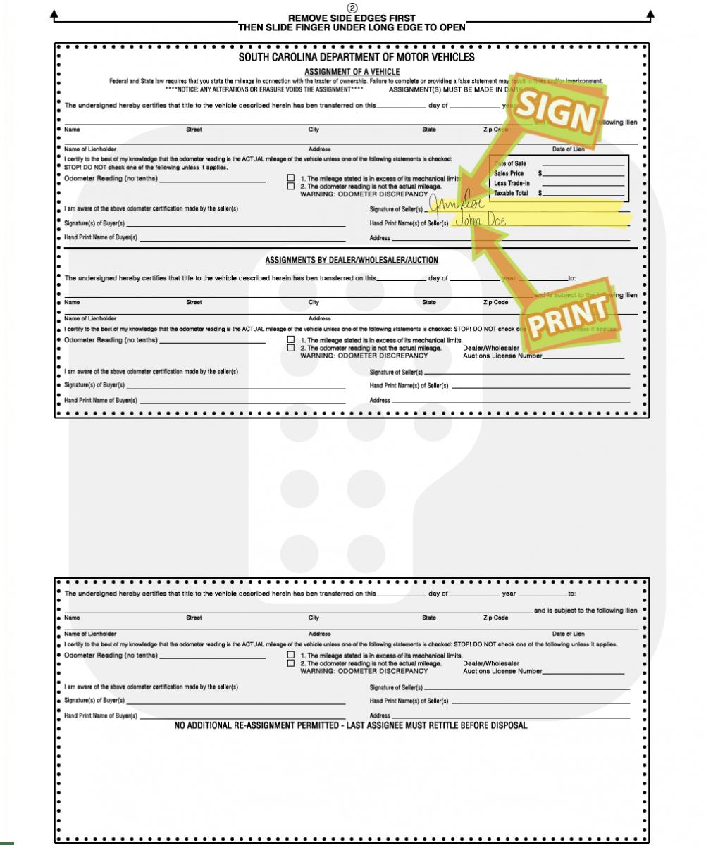 Sc New Car Registration